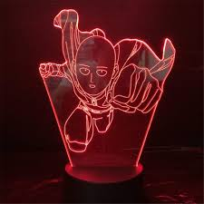 Red Light Skin Care Lampara Amazon Com Gugudass Toy 7 Color Changing One Punch Man