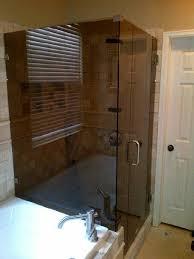 bronze glass shower enclosure