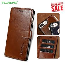 floveme genuine leather wallet case for iphone 8 7 6 6s luxury flip card slot cover cases for iphone 8 7 6s 6 plus accessories