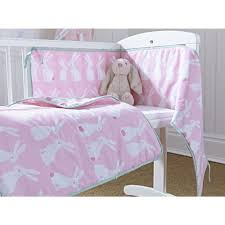 clair de lune 2pc crib bedding set rabbits