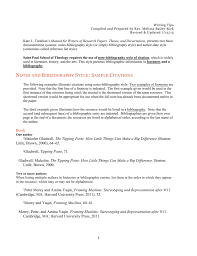 Notes And Bibliography Style Sample Citations Book