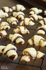 rugelach with two fillings chocolate