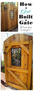 decorative garden gates. How A Girl Built Gate Decorative Garden Gates