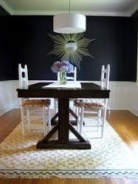i feel like navy above the chair rail shrinks the room alvine ruta rug from ikea
