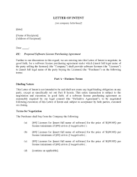 Letter Of Intent To Purchase Software Licenses Legal Forms And
