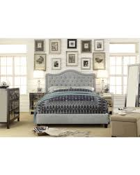 grey bed frame full. Exellent Bed Adella Linen Tufted Upholstered Full Size Bed Frame Grey For Grey V