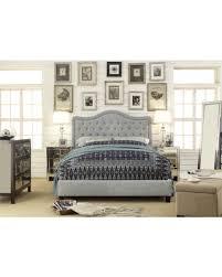 Bargains on Adella Linen Tufted Upholstered Full Size Bed Frame
