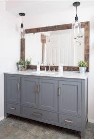 farmhouse bathroom ideas. Great Farmhouse Bathroom Updates That Are Easy On The Budget - Love This Mirror Makeover Ideas