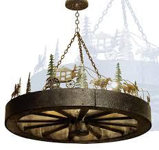chandeliers wagon wheel chandeliers western style lighting