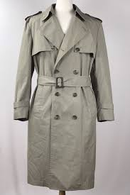 vintage london fog trench coat men 44 r made in usa castiel cosutme rorschach