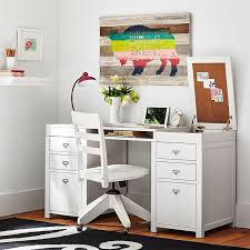 appealing white desk with storage customize it project storage pedestal desk pbteen