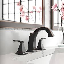 two handle widespread faucet in venetian bronze finish
