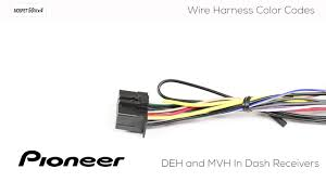 how to understanding pioneer wire harness color codes for deh