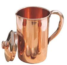 copperking pure copper jug 1650ml with 4 glasses water drinking in copper vessel is good for health