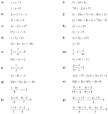 systems of linear equations and