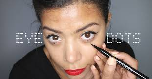 makeup micro trend how to do eye dots