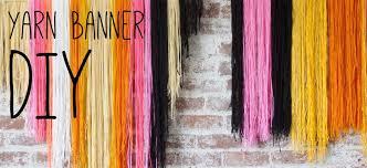 yarn banner diy