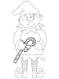 Elf On The Shelf Coloring Pages Getcoloringpagescom