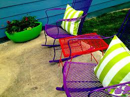 painted metal patio furniture. Blog Austin Interior Design Room Fu Knockout Interiors Throughout Painting Outdoor Furniture Painted Metal Patio