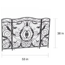 waterbury fireplace screen by christopher knight home free today com 16762757