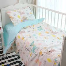 baby sheet sets 120 60cm 130 70cm cute baby crib bedding set 100 cotton included
