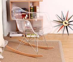 clear plastic furniture. Modern Design Transparent Clear Plastic And Wood Rocking Chair. Smoke Acrylic Chair With Armrest. Chair-in Living Room Chairs From Furniture