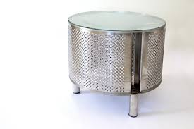stainless steel furniture designs. Coffee Table Made From Stainless Steel Washing Machine Drum With Added Legs And A Glass Top. Furniture Designs T