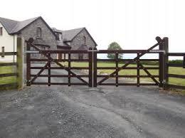 wood farm fence. Timber Gate Wood Farm Fence