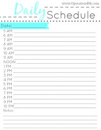 24 Hour Schedule Template Download Employee Work Blank Weekly