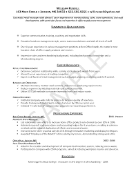 Entry Level Resume Example Professional Experience Objectives For