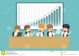 Business People Analyzing Documents Income Charts And Graphs