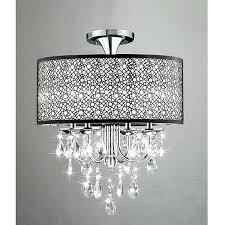 crystal chandeliers flush mount chandelier light fixture antonia 4 semi