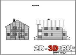 Чертежи домов коттеджей планы разрезы фасады проекты Страница  Дом загородный жилой курсовая работа по архитектуре