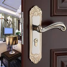 modern simple gold bedroom bookroom door lock black indoor lock mechanical handle lock bearing lock body