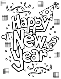 new years printable coloring pages