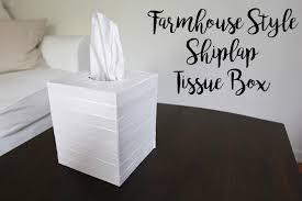 diy farmhouse style shiplap tissue box