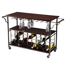 Kitchen Wine Rack Wood Top Kitchen Island Wine Rack Cart With Storage Shelf