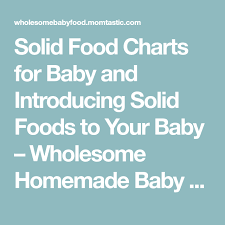 Food Charts Unique Solid Food Charts For Baby And Introducing Solid Foods To Your Baby