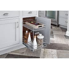 Kitchen Basket Closetmaid 2 Tier Kitchen Cabinet Pull Out Basket Wayfair