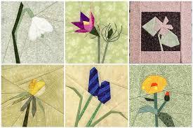 Paper Piecing Flower Foundation Paper Pieced Flowers Paper Pieced Quilting Paper