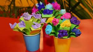 Paper Flower Pots Cbeebies House Pot Of Paper Flowers