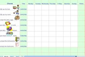 Weekly Chore List Template Chore Chart Template Excel Also Free Printable Best Weekly