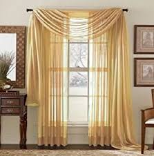 See Through Voile Panel/curtains/drapes;40w X 84L :Two Panels Per Package  Gold
