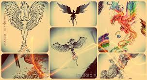 эскизы тату феникс лучшие рисунки для тату с огненным фениксом