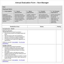 Employee Evaluation Forms Examples Employee Evaluation Form 41 Download Free Documents In Pdf