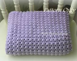 Easy Crochet Baby Blanket Patterns Cool Crochet Baby Blanket Etsy IL