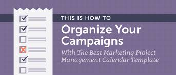 Marketing Project Management Calendar Template How To Get Organized