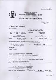 Certificate Printable Medical Certificate Sample Medical