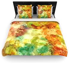 rosie brown fall bouqet yellow orange duvet cover contemporary duvet covers and duvet sets by kess global inc