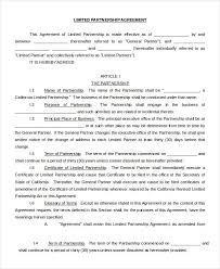 Business Partnership Agreement Partnership Agreement Templates